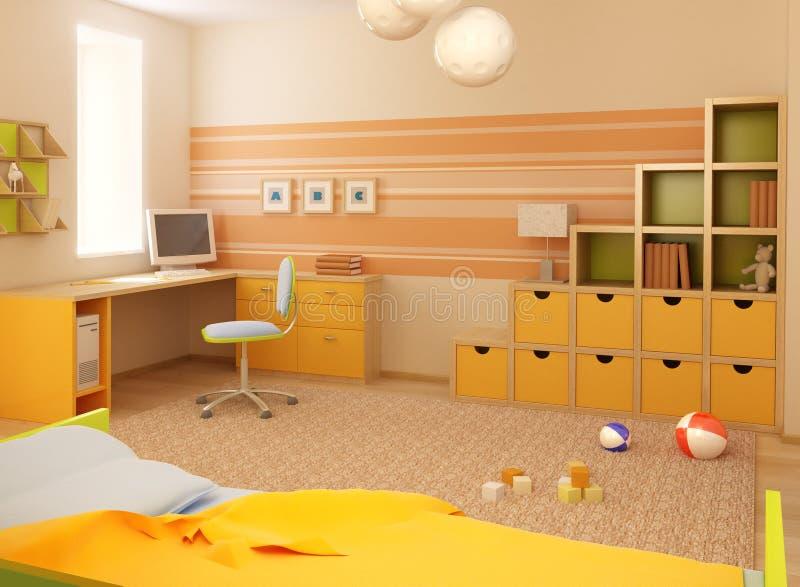 Children's room interior vector illustration