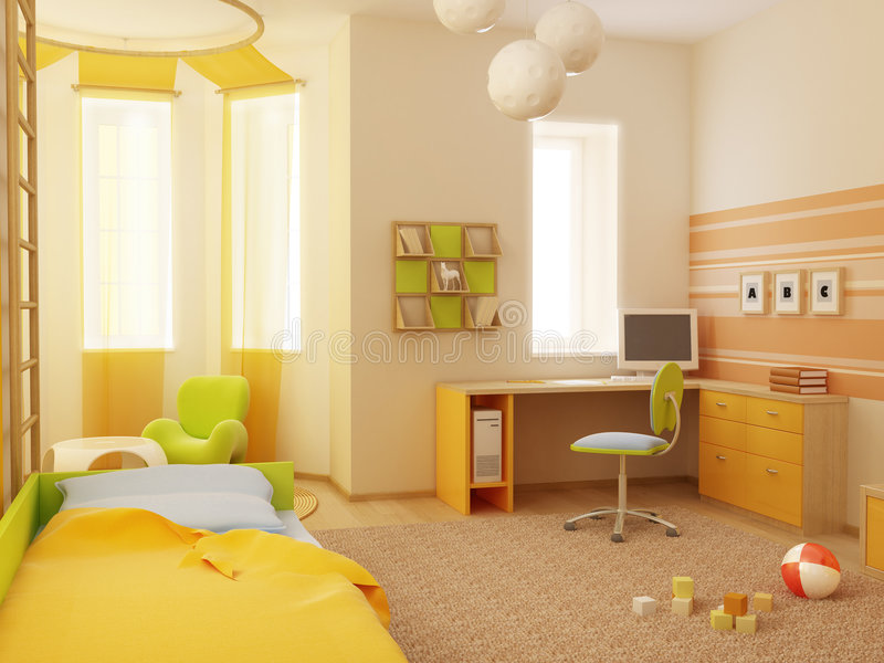 Children's room interior royalty free illustration