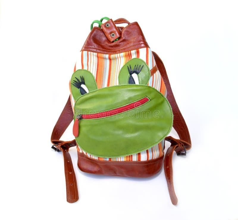 Children& x27; s-Rucksack mit Anwendung stockfoto