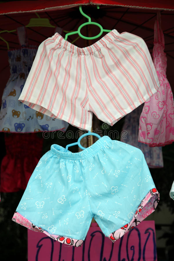 Children s Shorts were hanging.