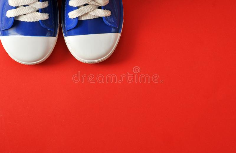 Children`s, sports sneakers stock photos