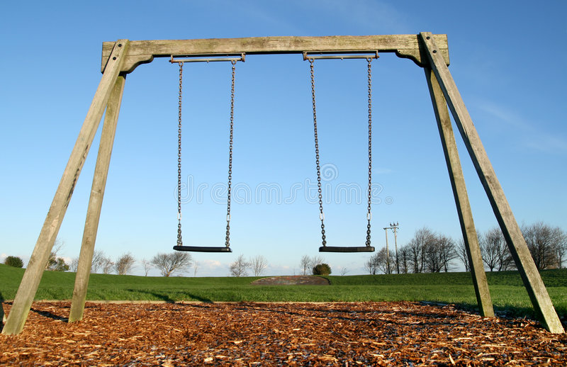 Children's swings. royalty free stock image