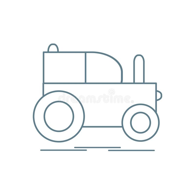 Children's toy: tractor. Design for poster or print vector illustration
