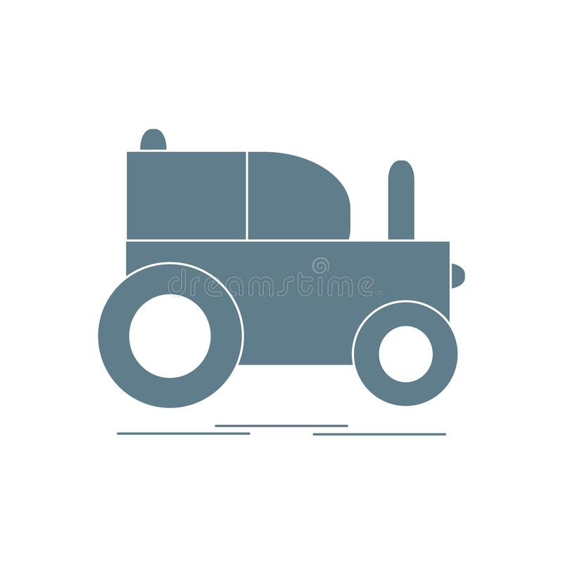 Children's toy: tractor. Design for poster or print stock illustration