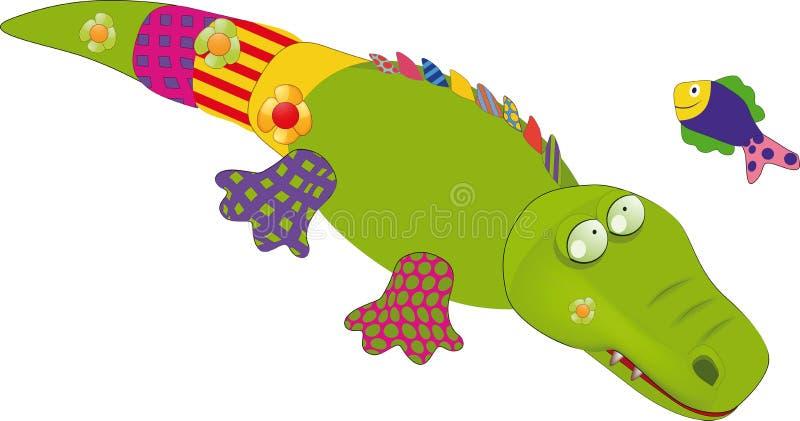 Children's toys a crocodile royalty free illustration