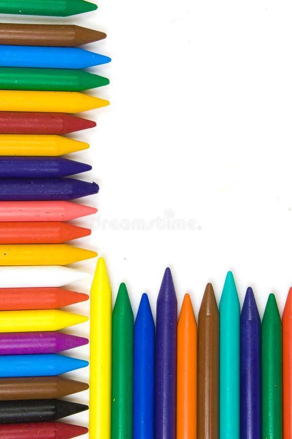 Children's wax pencils stock images