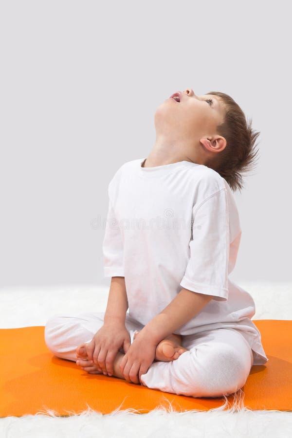 Children's yoga. royalty free stock photo