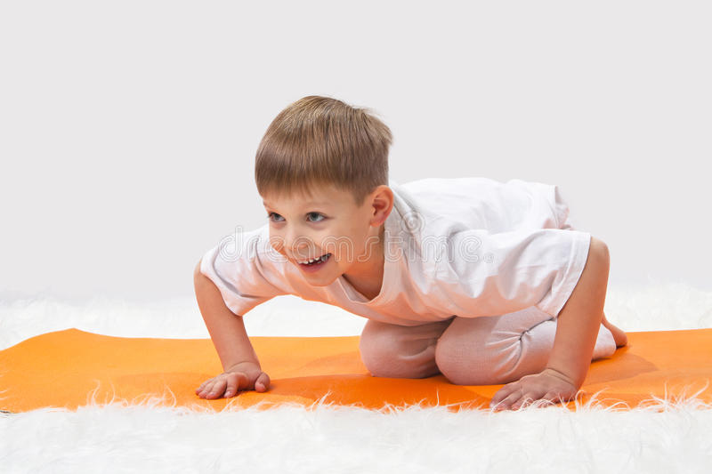 Children's yoga. stock photos