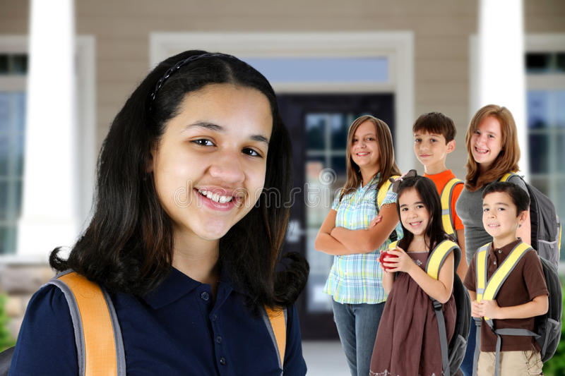 Download Children At School stock image. Image of learn, female - 23842351