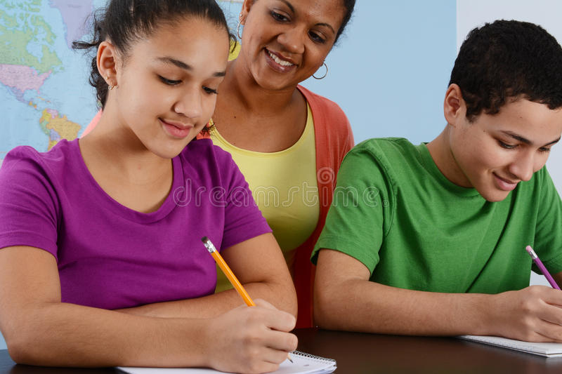 Children At School stock photos