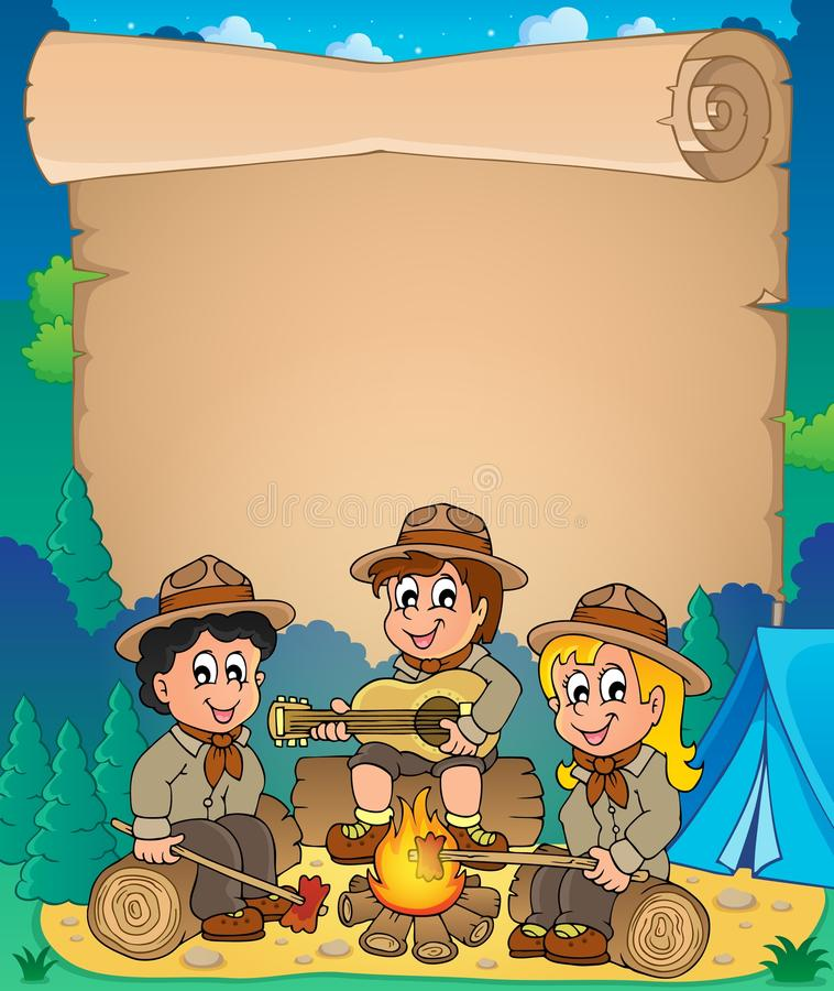 Free Children Scouts Theme Parchment 1 Royalty Free Stock Photo - 39652495
