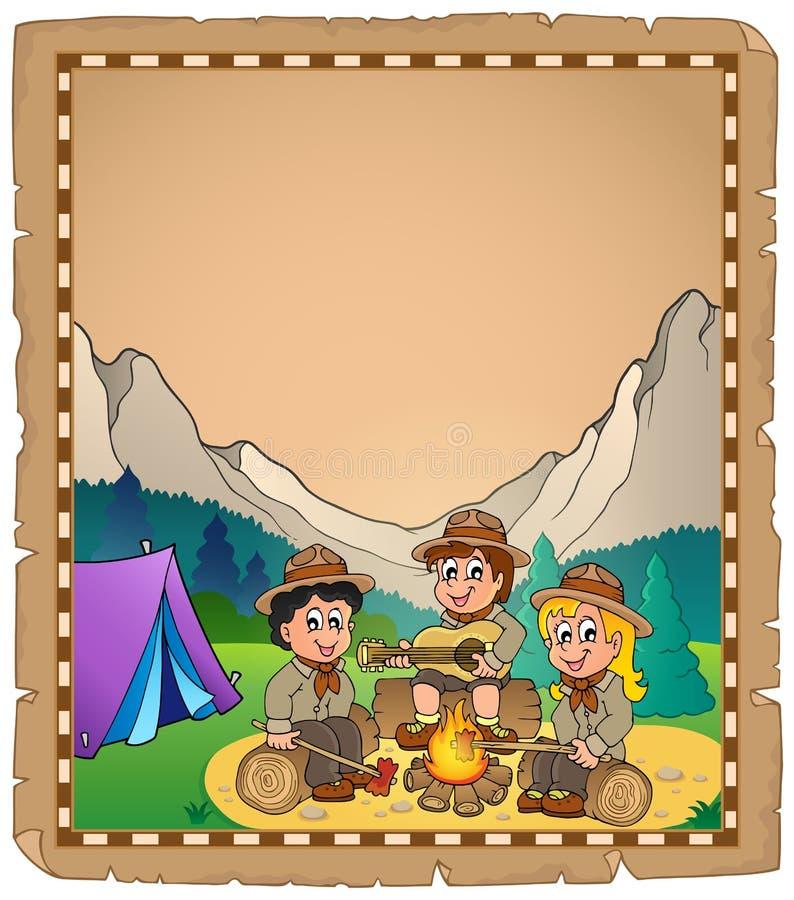 Free Children Scouts Theme Parchment 2 Royalty Free Stock Photos - 40398478