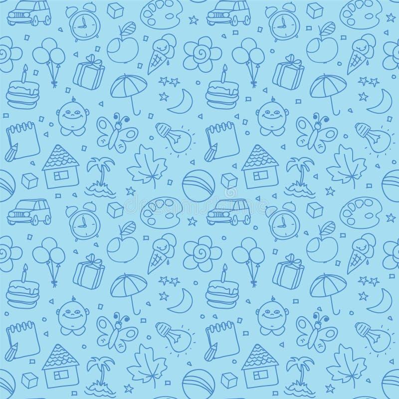 Children seamless texture vector illustration