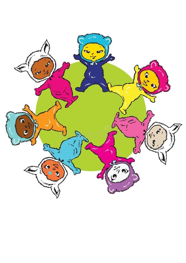 Download Circle Earth Mandala, Cartoon For Baby Children-Diversity Stock Vector - Illustration: 5061627