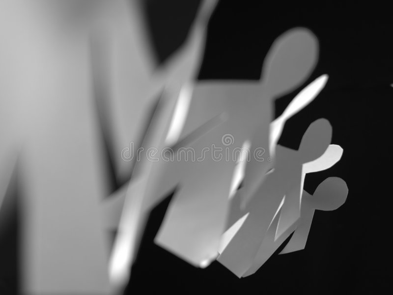 Children shape paper cut royalty free stock photos