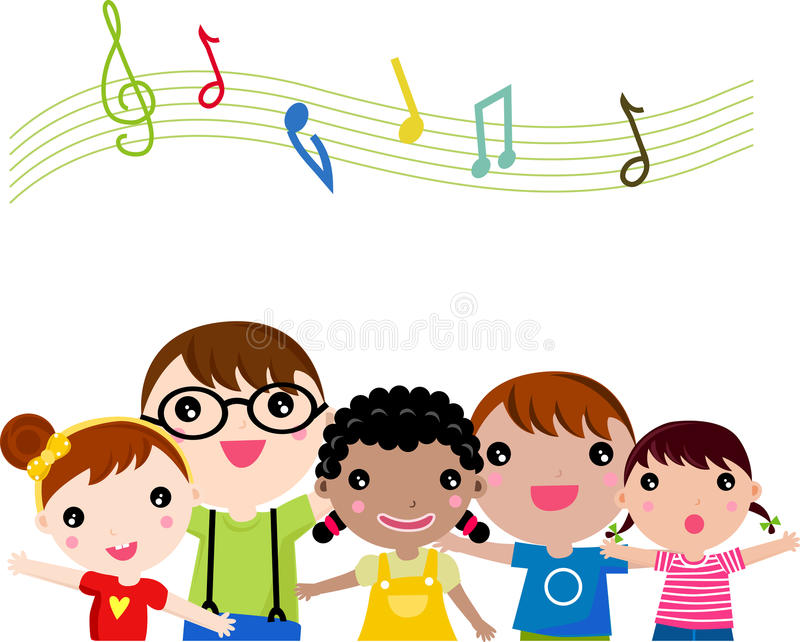 Download Children singing stock vector. Image of cute, lifestyle - 15196084
