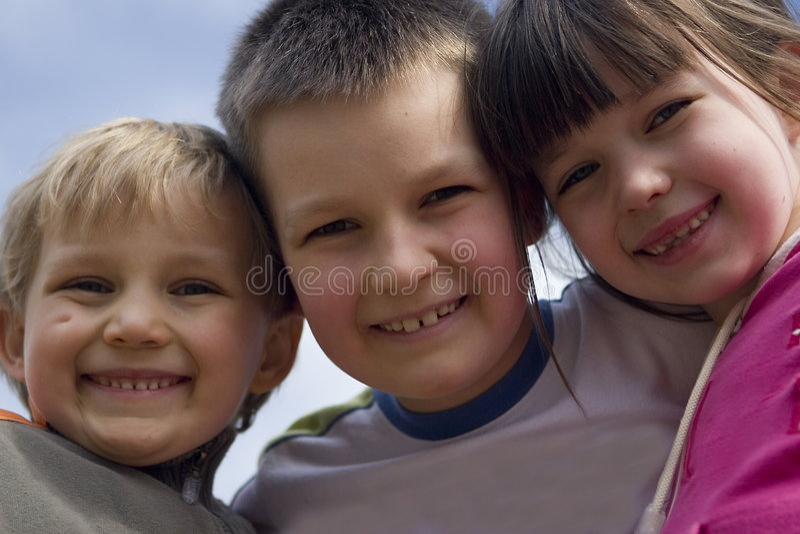 Children smiling royalty free stock photo