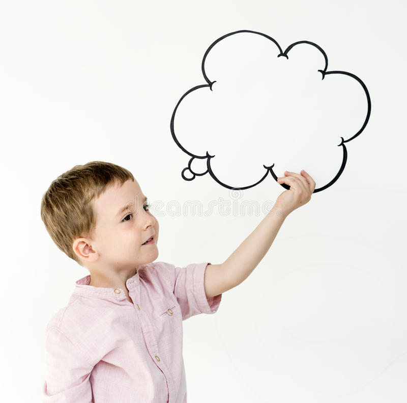 Children Smiling Thinking Ideas Portrait Concept stock photography