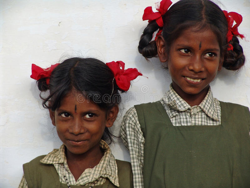 Children in South India royalty free stock images