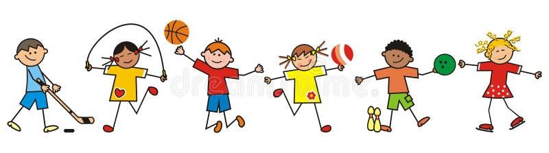 Children And Sport, Vector Icon Stock Vector ...