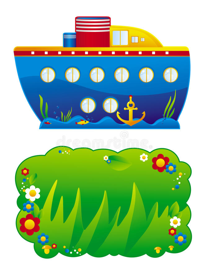 Download Children stand stock vector. Image of mushroom, balloons - 21992909