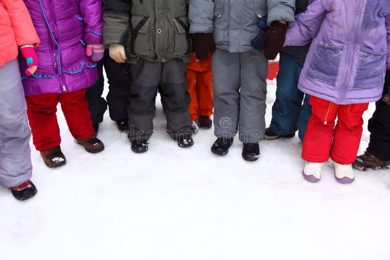 Children stand around