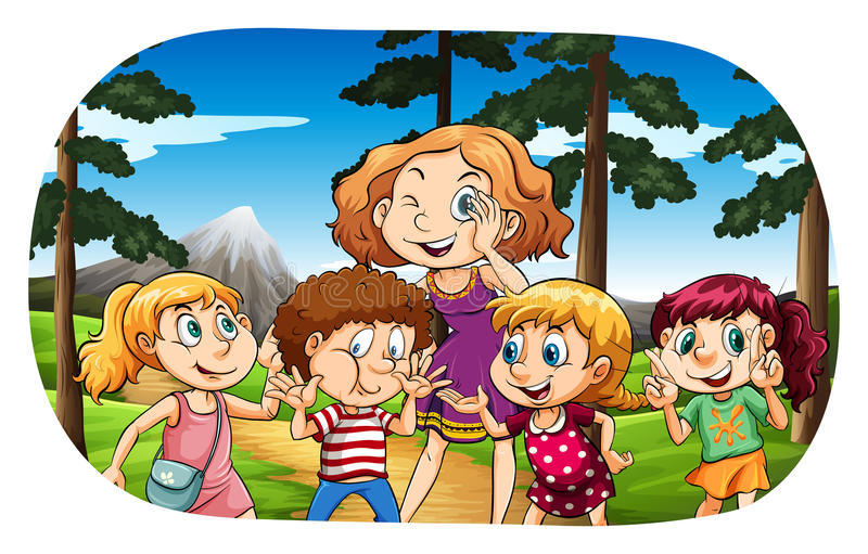 Children stock illustration