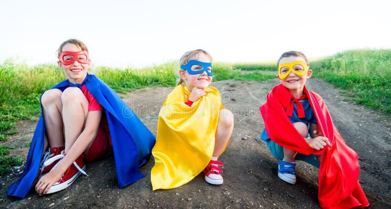 Children super hero stock photo