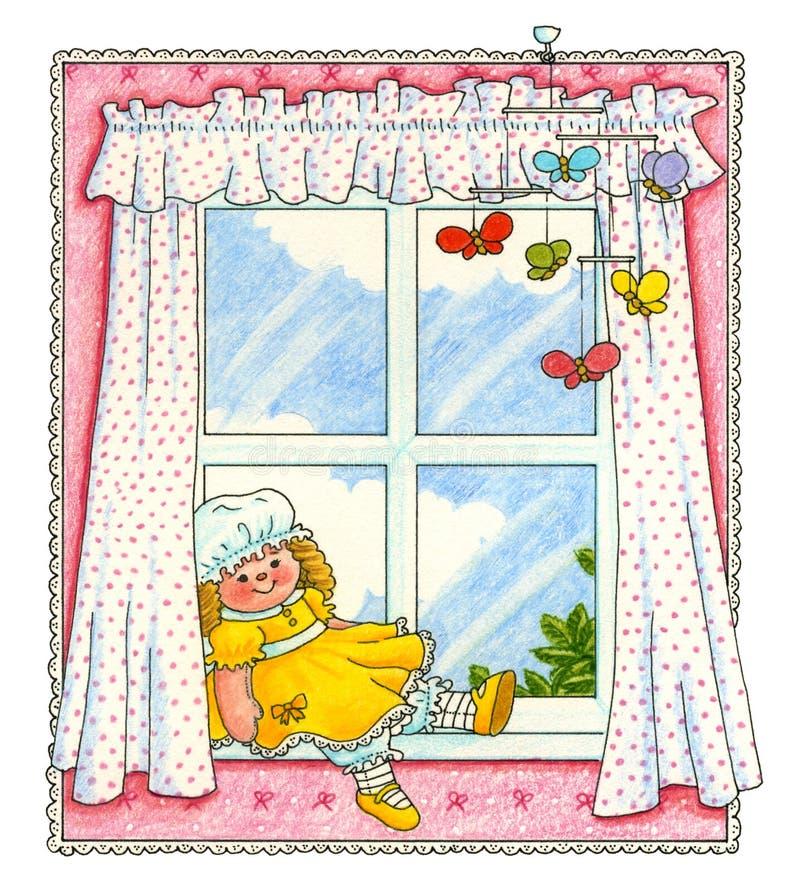 Children sypialnia royalty ilustracja