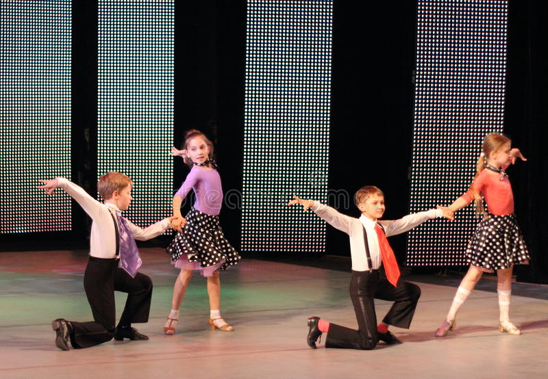 Children taniec towarzyski obraz stock