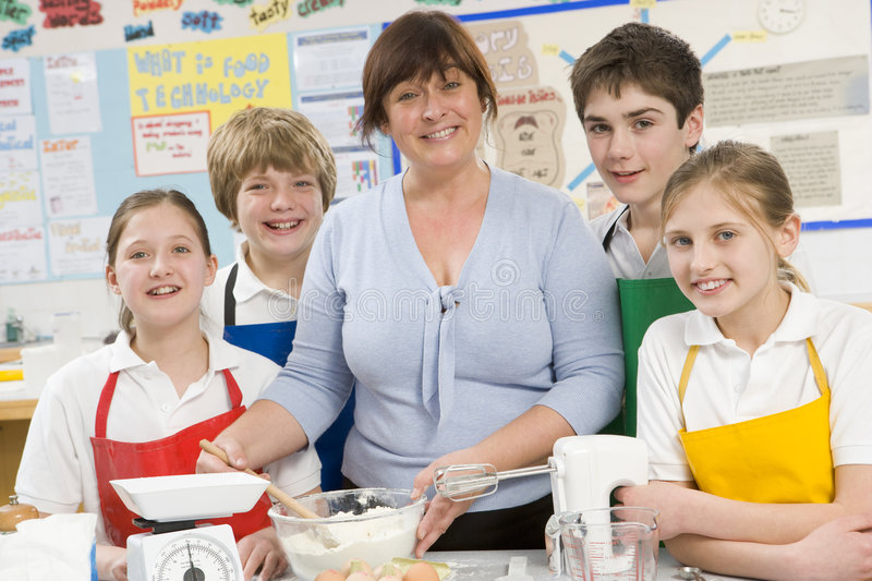 Children and teacher in class royalty free stock photos