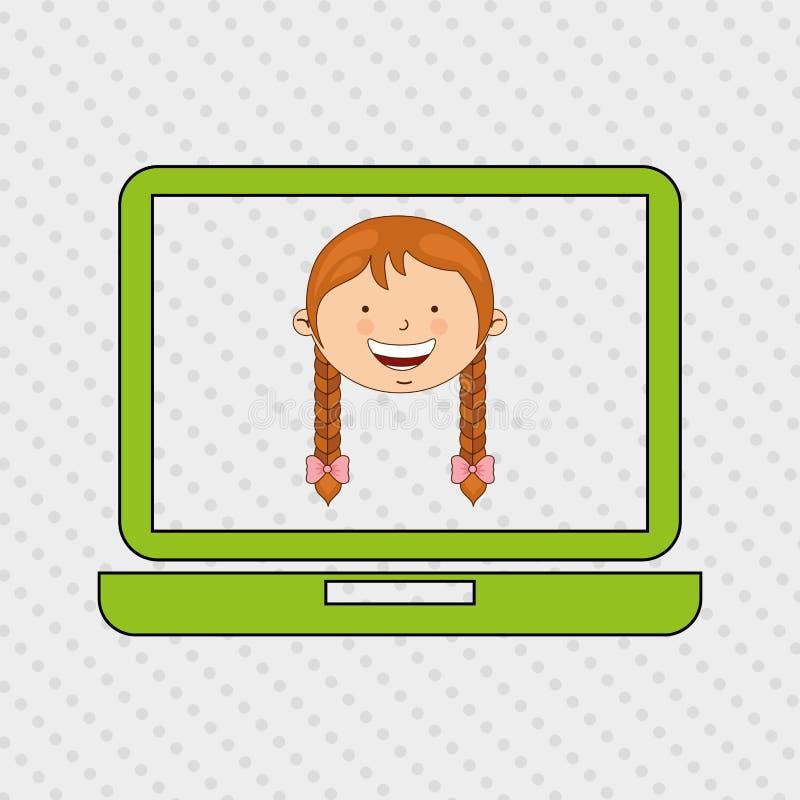 Children and technology design. Illustration eps10 graphic stock illustration