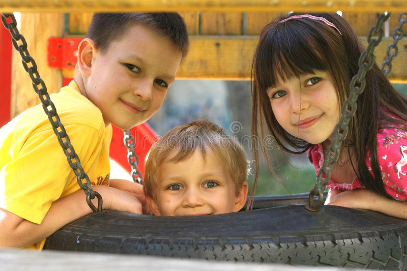 Download Children On A Tire Swing stock photo. Image of animated - 1585290