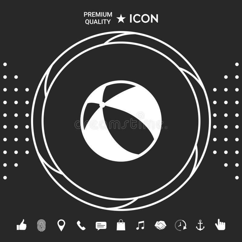 Children toy, bouncy ball - icon. Element for your design royalty free illustration
