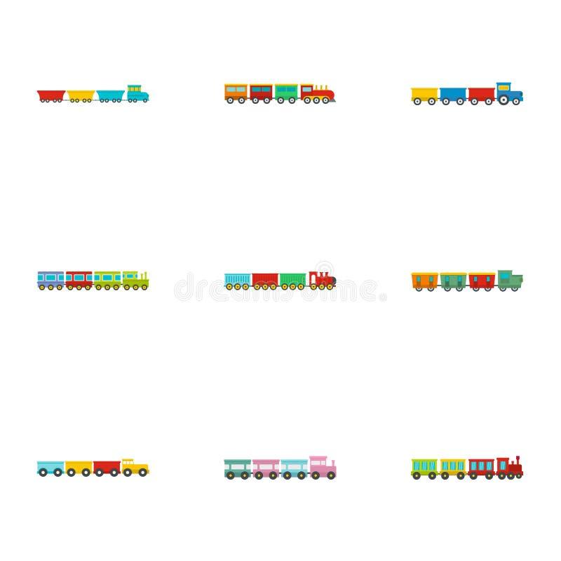 Children toy icons set, flat style. Children toy icons set. flat set of 9 children toy icons for web isolated on white background royalty free illustration