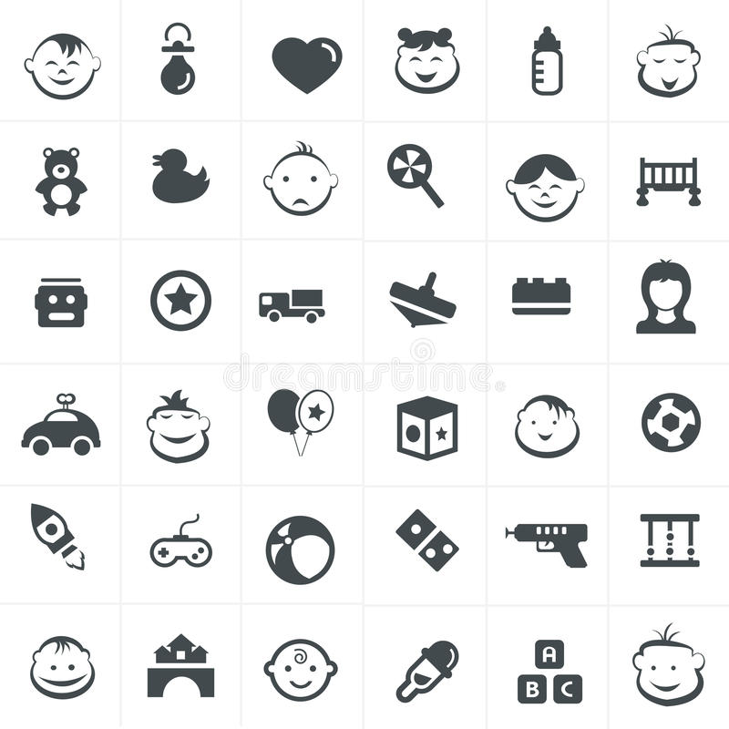 Children And Toy Icons Set. Icon design Children And Toy Icons Set vector illustration