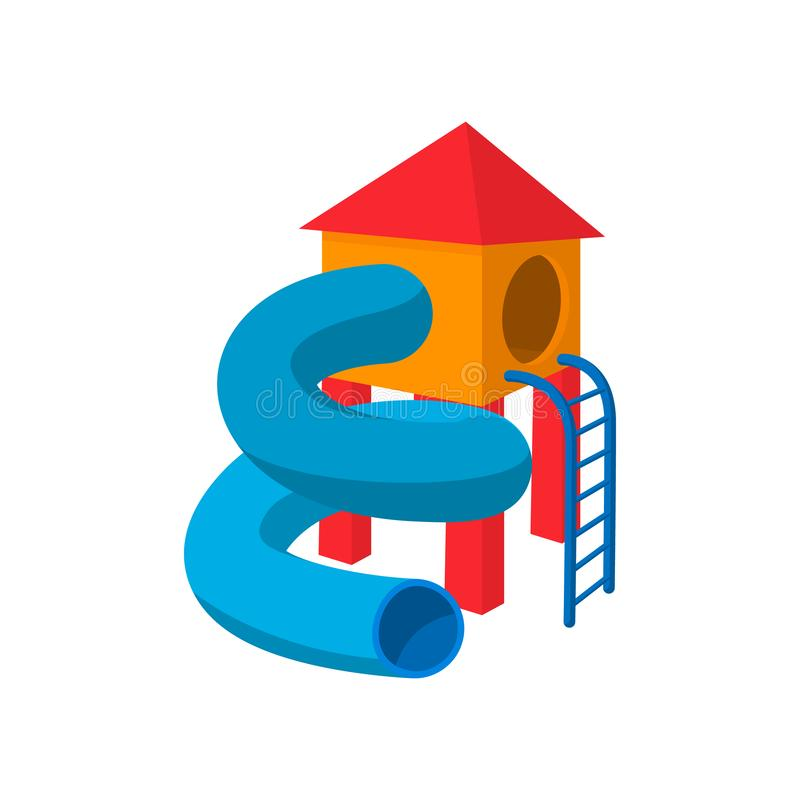 Free Children Tube Slide Cartoon Icon Royalty Free Stock Image - 125454146