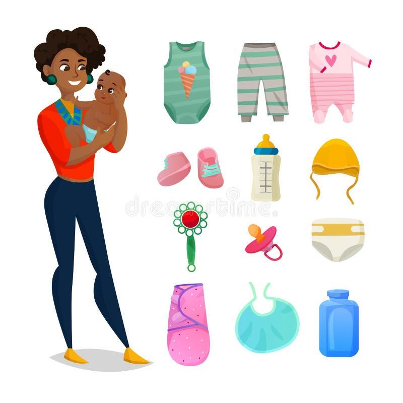 Children ubrania Ustawiający ilustracji