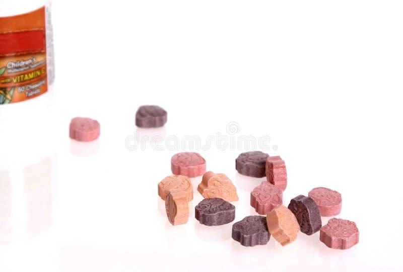 Children Vitamin Supplements Royalty Free Stock Photos