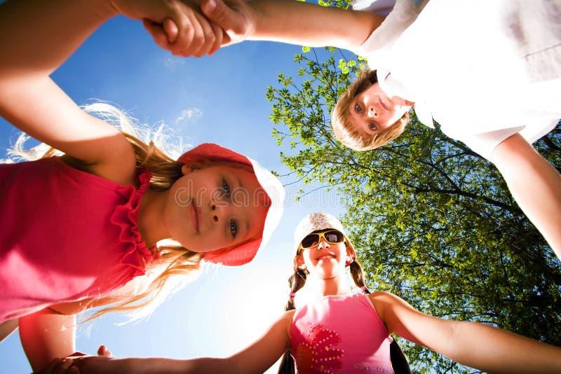 Children on walk royalty free stock photography