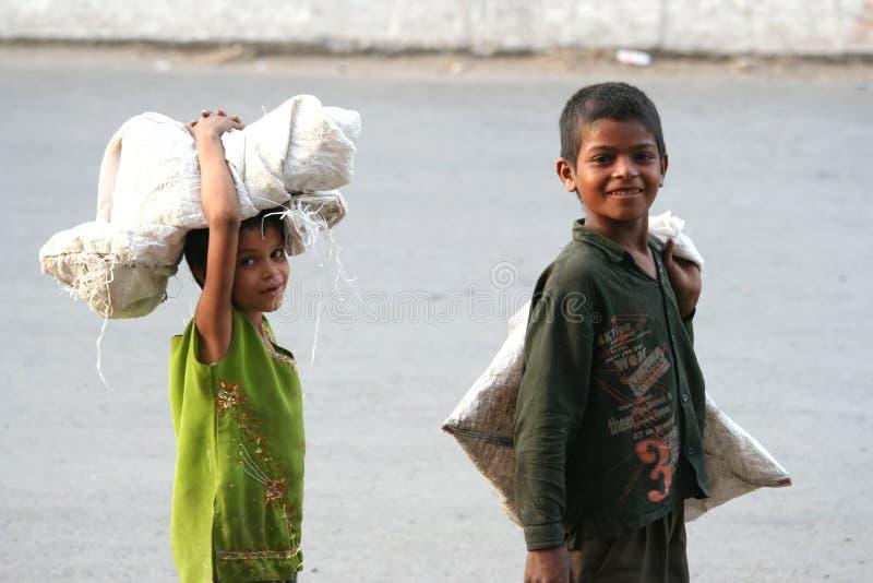 Children at work royalty free stock image