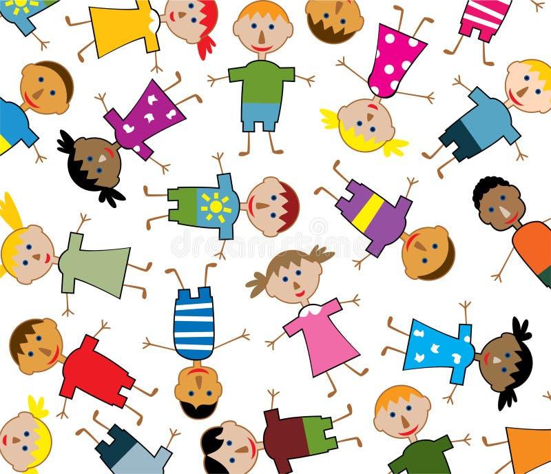 Children of the world. Vector illustration of young children of the world vector illustration