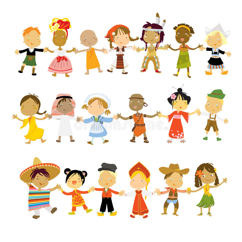 Children of the world vector illustration