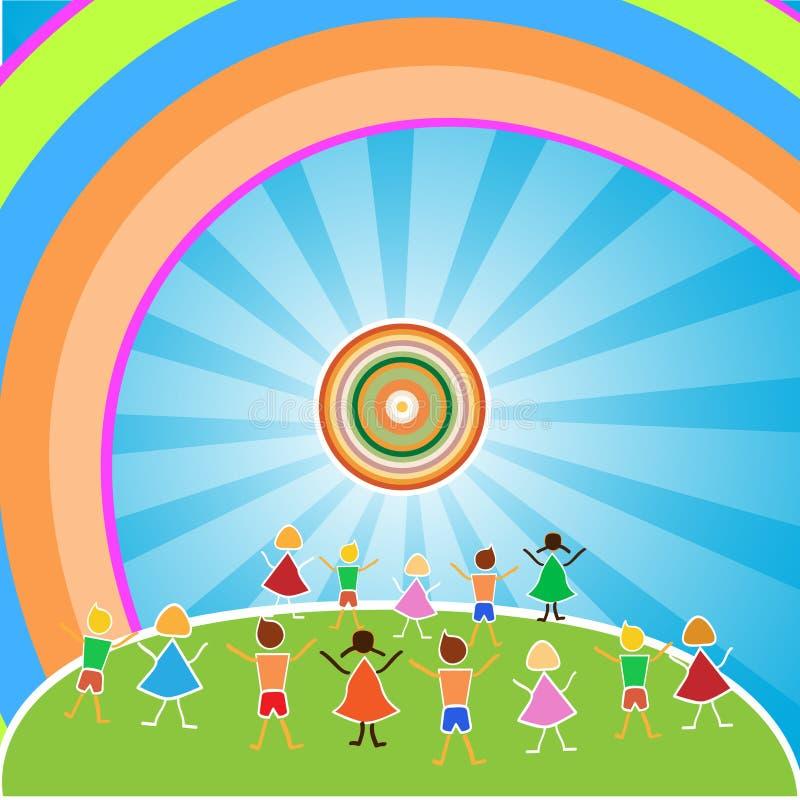 Children of the world. Vector illustration royalty free illustration