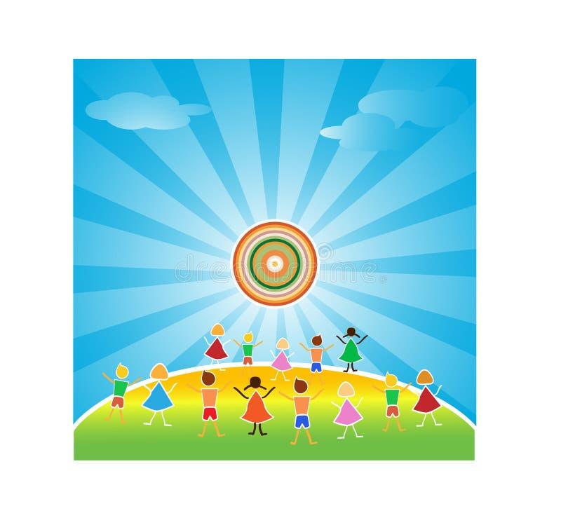 Children of the world. Vector illustration stock illustration