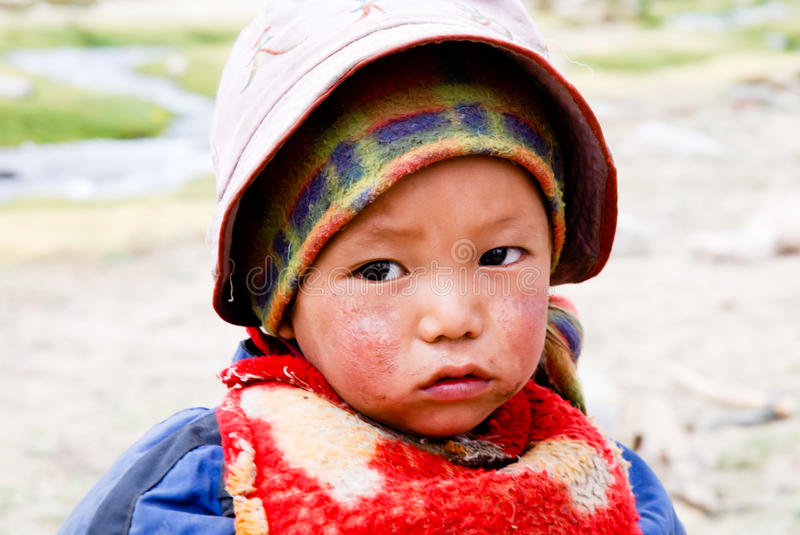 Download CHILDREN OF THE WORLD: Nomad Child, Ladakh Editorial Photography - Image: 16115962
