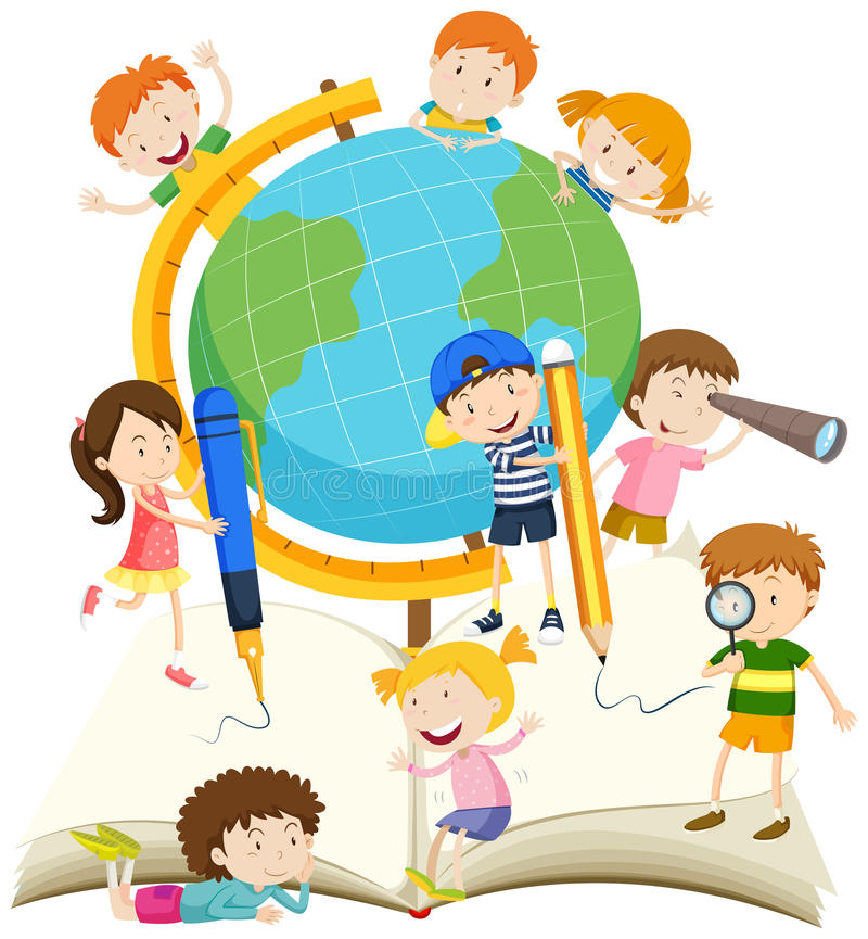 Free Children Writing And Reading Book Stock Photography - 66395562