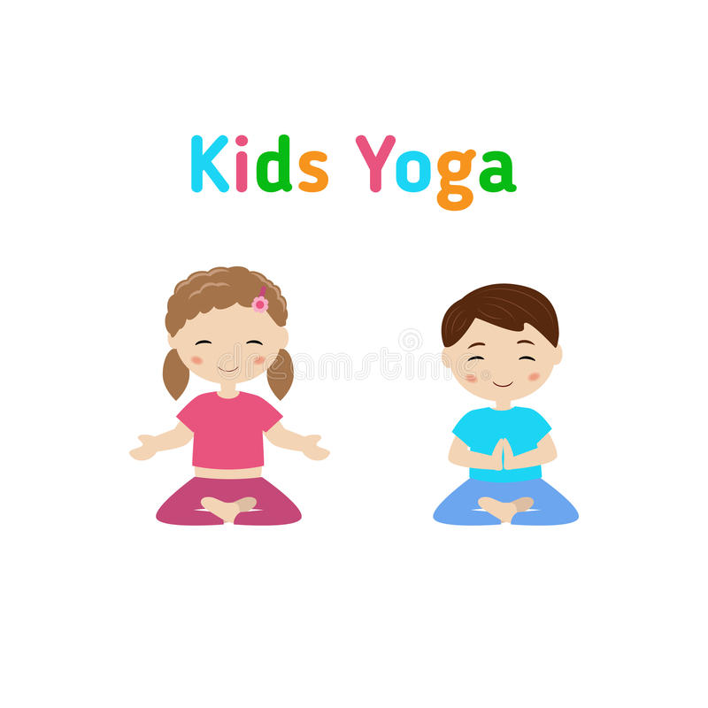 Children yoga royalty free illustration