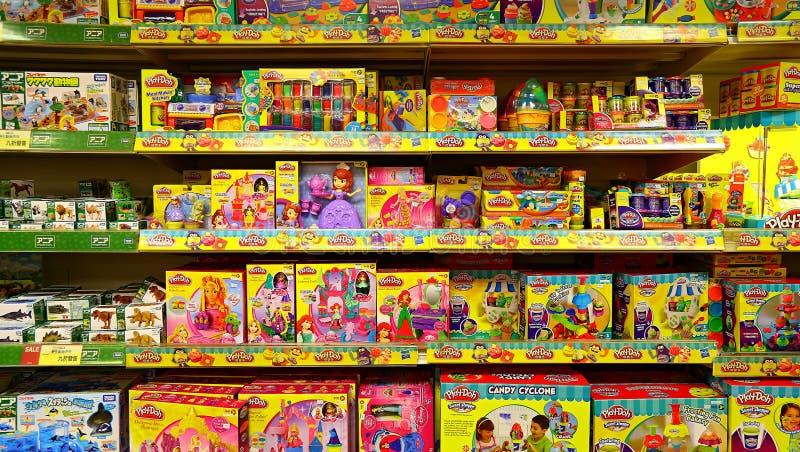 Children zabawkarski sklep fotografia stock