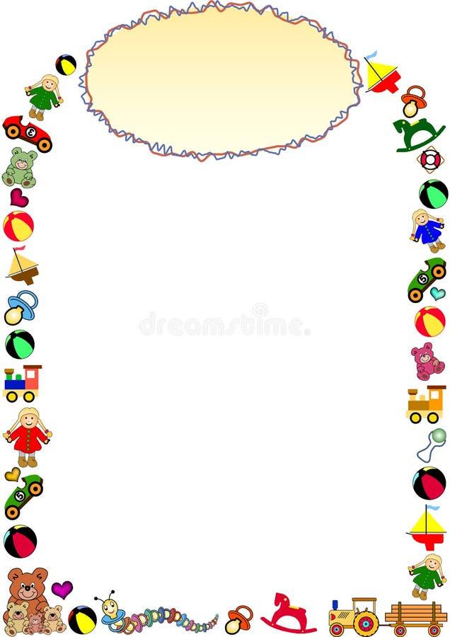 Childrens border vector illustration